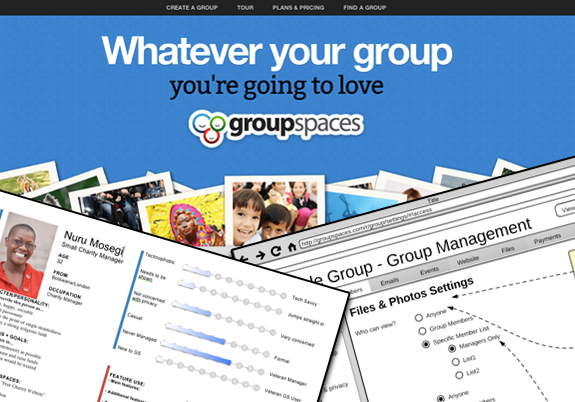 GroupSpaces 2.0 - Re-launch of a group management web app and new premium features and pricing structure